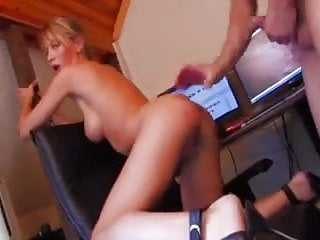 Very hot french blond who make incredible blowjob