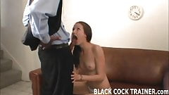 Sit in the corner while this African stud pounds my pussy