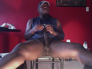 Str8 black daddy stoke his meat ll