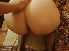 Wife with juicy tits sucking cock and fucked doggy style