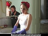 ExxxtraSmall - Petite Maid Gets Fucked For Money