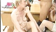 Two grannys hard fucking