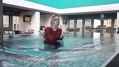 UK hijabi in swimwear