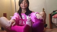 Sexy Asian Teen Footjob (No CS)