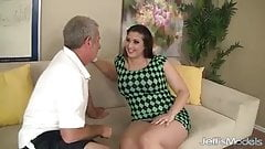 Angel DeLuca gets tits fucked before getting it in her pussy