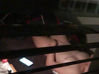 Hidden cam window after masturbation