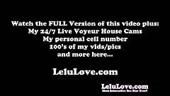 Lelu Love-Cum Eating Masturbation Instruction