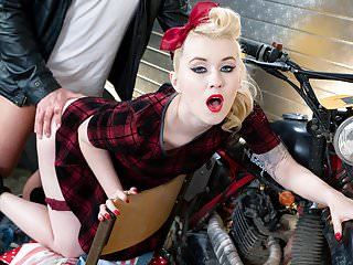 PINUP SEX - Gorgeous Misha Cross blows and rides biker dick