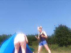Spy fat mature at nudist beach