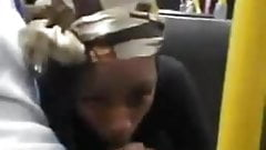 black girl suck in subway