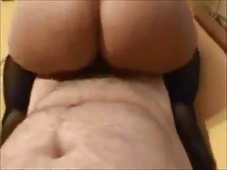 Curvy big butt milf creampied