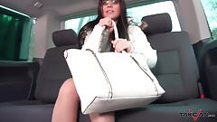 Takevan - Famous anal squirting action in driving car