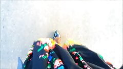 POV Walking in a floral dress