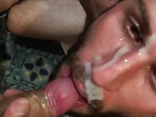 Blasted by cum in a Bukkake