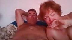 Mature couple on webcam