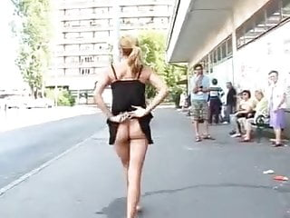 Girl Flashing Nude In Street by TROC