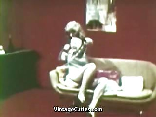 Preview 2 of Lesbians Playing Dirty Sex Games (1960s Vintage)