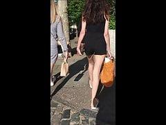 Teen Feet in Flip Flops with Tight Ass's Thumb