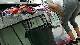 Laundry mat Creep Shots leggings booty teen