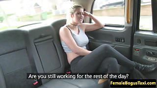 Busty cabbie sixtynines her british passenger