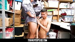 Straight Latino Teen Shoplifter Fucked By Two Black Gay Cops