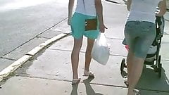 Nice Shot Right Up Her Pretty Blue Skirt