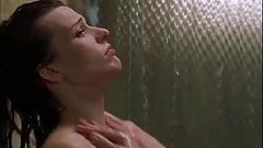 Milla Jovovich gets kissed in the Shower