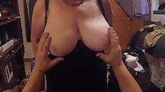 POV Cougar's BIG Naked Boobs getting GROPED