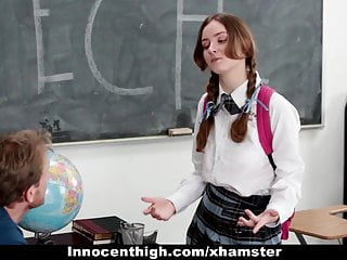 Innocenthigh Shy Schoolgirl Fucks Her Speech Teacher