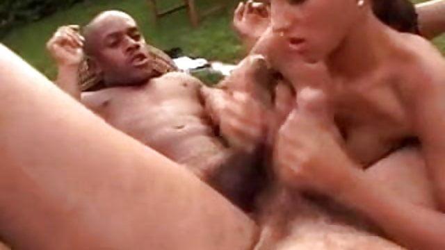 Big dick clit outdoor wife