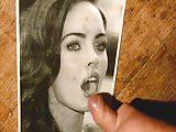 cum tribute on Megan Fox