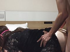 Straight Japanese Young Man Fuck Crossdresser and Cum