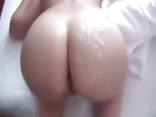Big and round booty gets slapped