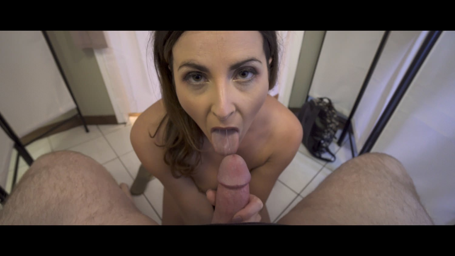 Michigan cutie in pigtails takes condom off - 1 part 9