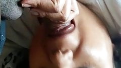 Indian wife giving blowjob to driver