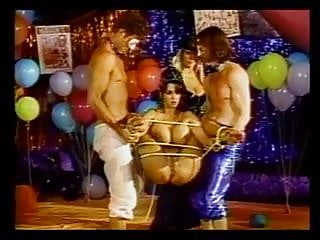 Baloons and hardcore BDSM foursome