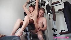 GILF gets anal fucking on fistness machine hard & long