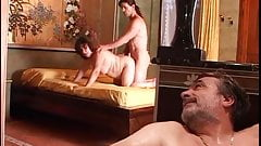 Horned husb. in the jacuzi the waiter's cock in wife's pussy