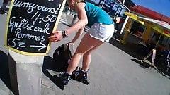 Stalking Hot Pants Girl Shop Part 4