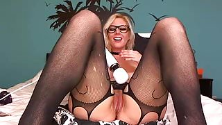 Pantyhose webcam blonde