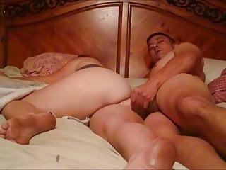 Cummin on her ass and thigh