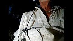 My granny rubbing her fuckhole