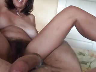 Hairy Milf With Great Pussy Lips Enjoys Cock