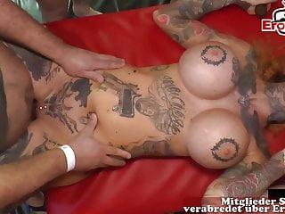 Creampie Cum Tattoo Sluts At German Gangbang Party