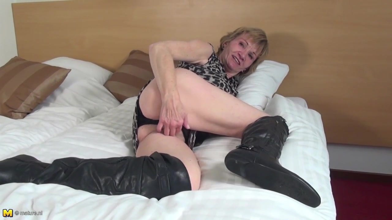Sexy granny in boots