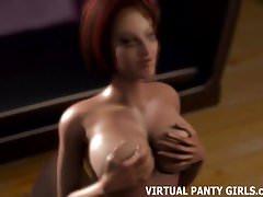 3D MILF gets a taste of the neighbor boys big cock's Thumb