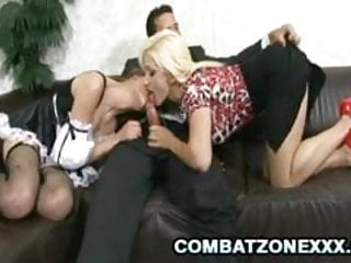 Two Euros Jenny Noel and Lea Lexis enjoys three-way sex