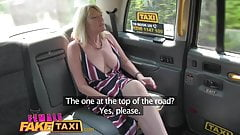 Female Fake Taxi Blonde milf cums on sexy redheads tongue