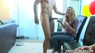 Divorced milf nude dance in office party