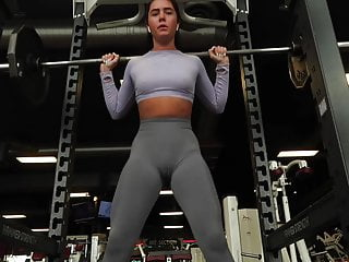 No Pantie No Bra At The Gym Camel Toe Cameltoe Pussy Shape